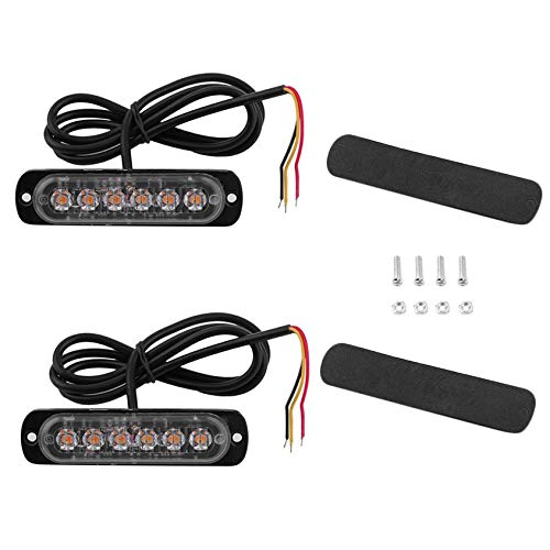 Barnsteenkleurige flitser 2 * 6 6Cree LED 12V of 24V herstelde inbraak-knipperende lampen
