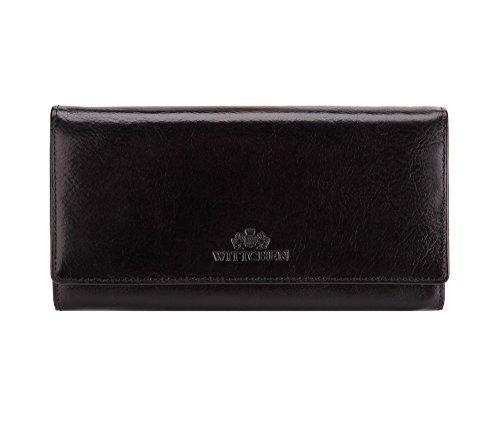 WITTCHEN Elegante Geldbörse Damen/Geldbeutel Portemonnaie aus Leder 18.5x10cm 21-1-052-1