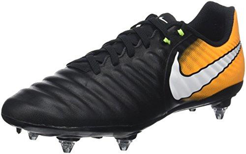 Nike Tiempo Ligera IV SG, Zapatillas de Fútbol Hombre, Negro (Black/White-Laser Orange-Volt),...