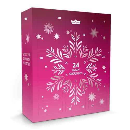 GymQueen Fitness Adventskalender Tasty Christmas 2021, mit exklusiven Tasty Drops und Protein-Riegeln in Originalgröße, Kalorienfreie, Zuckerfreie und Fettfreie Flavour Drops und High Protein Riegel