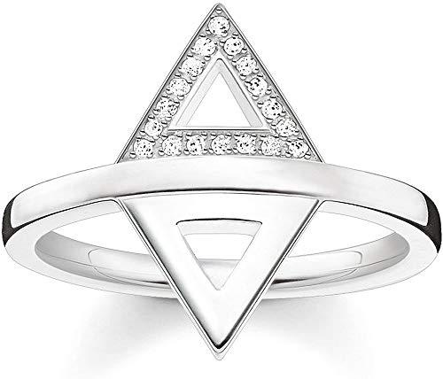Thomas Sabo Anillo de mujer triángulo plata de ley 925 D_TR0019-725-14