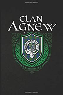 Clan Agnew: Scottish Clan Tartan Family Crest - Blank Lined Journal with Soft Matte Cover