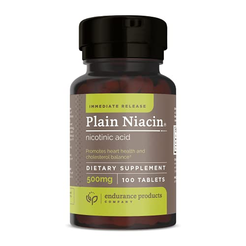 B3 Plain Niacin - 500mg Immediate Release Vitamin...