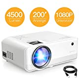 Beamer APEMAN Mini Beamer 4500 Lumen 1080P Full HD...