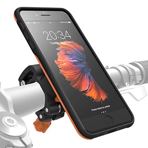 MORPHEUS LABS M4s Handyhalterung Fahrrad iPhone 8 Plus / 7 Plus Fahrradhalterung Halterung & iPhone 8 Plus / 7 Plus Hülle Rad, Bike-Kit orange (auch für iPhone 6 PLUS eingeschränkt nutzbar*)
