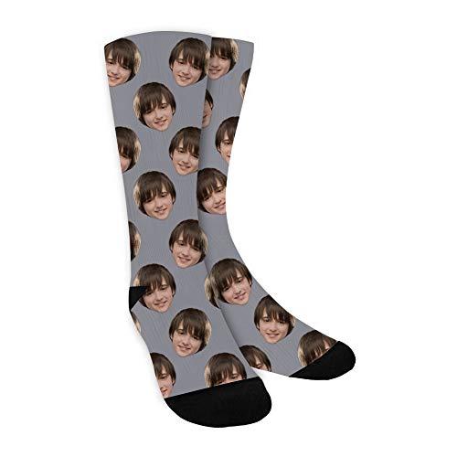 COSPOT Foto Socken Personalisierte Socken mit Gesicht Lustige Socken Herren Damen Setzen Sie Ihr Gesicht auf Socken Personalisierte Geschenke für Familie & Fre&e