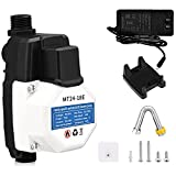 110V Automatic Waterproof Booster Pump, 75W Ultra Quiet Rustproof Water Pressure Booster Pump with Copper Motor for Hot Water Circulation /Water Heater/Solar Hot Water Panel/Tap Water/Smart Toilet