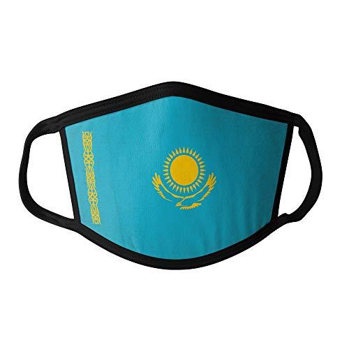 M&schutz Maske Stoffmaske X Groß Asien Flagge Kasachstan Wiederverwendbar Waschbar Weiches Baumwollgefühl Polyester Fabrik Schwarze Naht Trimmen