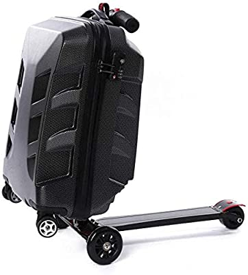21 Inch Scooter Luggage Hardshell Luggage Folding Scooter Trolley Suitcase Trolley for Adult Waterproof Luggage Box