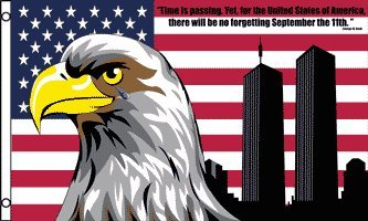 3 x5  9/11 WORLD TRADE CENTER AMERICAN FLAG 911 9-11 us usa america september 11th 11