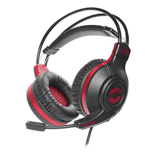 Speedlink Celsor Gaming Headset - Gaming Headset mit Stereo Sound für PC/Notebook/Laptop, schwarz