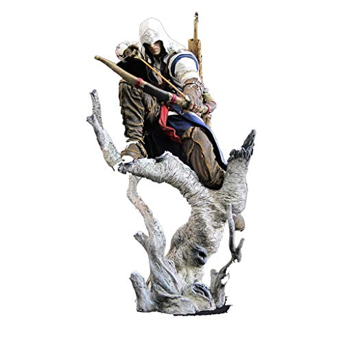 SONGDP Anime karakter Assassins Creed Anime model Connor boogschieten stijl decoratie speelgoed model Cartoon Anime karakter sculptuur geschenk collectie handwerk 26 cm Anime pak