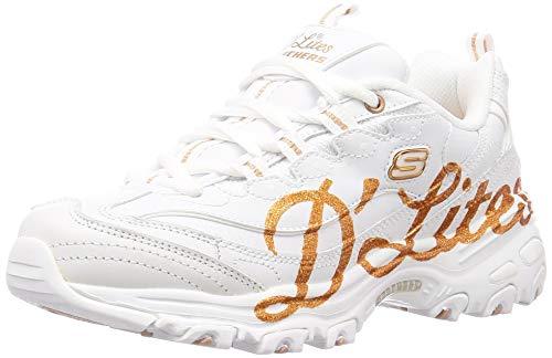 Skechers D'lites, Zapatillas Mujer, Blanco, 35 EU