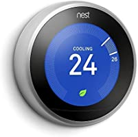 Nest 3rd Generation learning programmable Thermostat Stainless Steel T3007ES