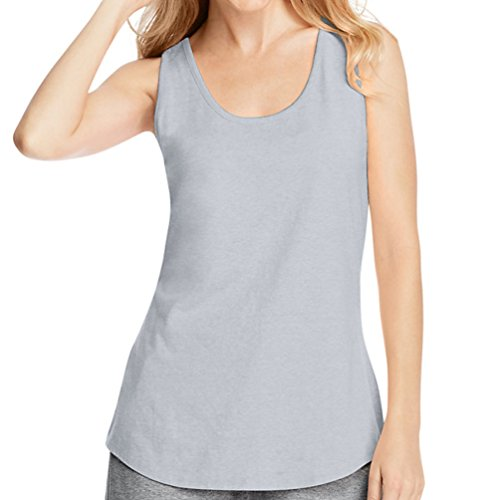 Hanes X-Temp Womens Performance Tank 42Wt_Light Steel_L