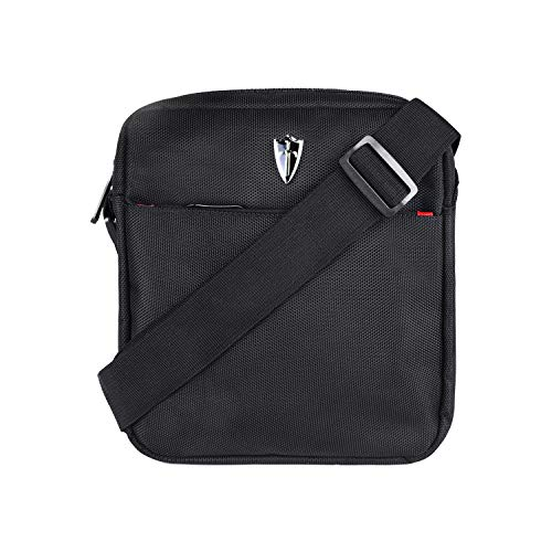 Victoriatourist Vertical Messenger Bag for iPad-Mini and Tablets Upto 8.1-Inch (Black)