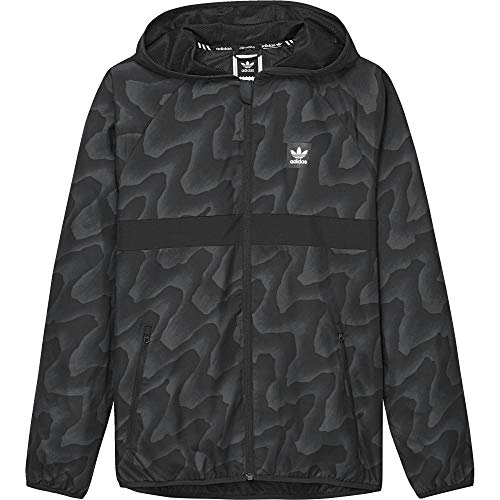 adidas Herren BB Warp Windbreaker Jacke, Dgsogr/Black, XL