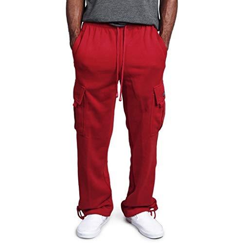 Minikimi joggingbroek met brede been, katoen, lange sportbroek, baggy, fitness, chino, jogger, broek, sweatbroek, drawstring, vrijetijdsbroek, multi-pocket-overall