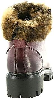 Bussola Womens RIC Leather Fur Insole Winter Boots Purple 38 Medium  B,M