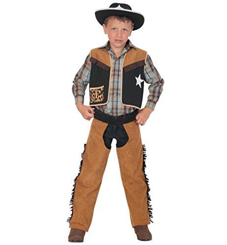 Kinderkostüm Texaner Karneval Cowboy und Indianer Kuhjunge Wilder Westen wild West Kostüm für Kinder (116)