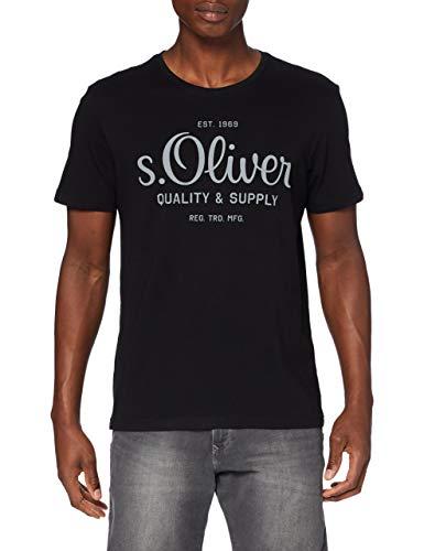 s.Oliver Herren T-Shirt, Schwarz, M