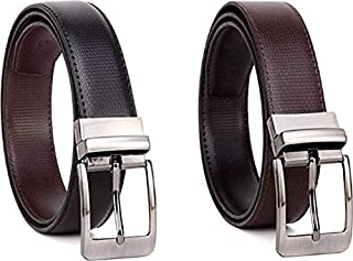 Rudraksh Enterprises Men's Leather Casual and Formal Belts (Brown)