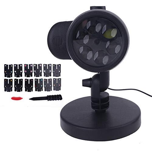 US/UE/UK/AU Enchufe de Navidad LED de Proyección de Luz de 12 Patrón de Película Proyector de la Lámpara Decoración de Navidad
