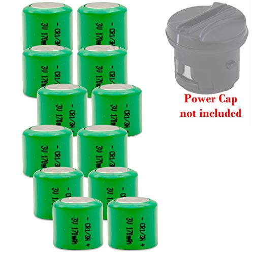 12x CR1/3N 3V Lithium Battery for Invisible Fence Dog Collar Fits Power Cap