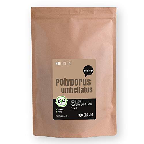 Wohltuer Bio Polyporus umbellatus 100g - Bio Polyporus Pulver, Vitalpilz Pulver in Rohkostqualität & Vegan