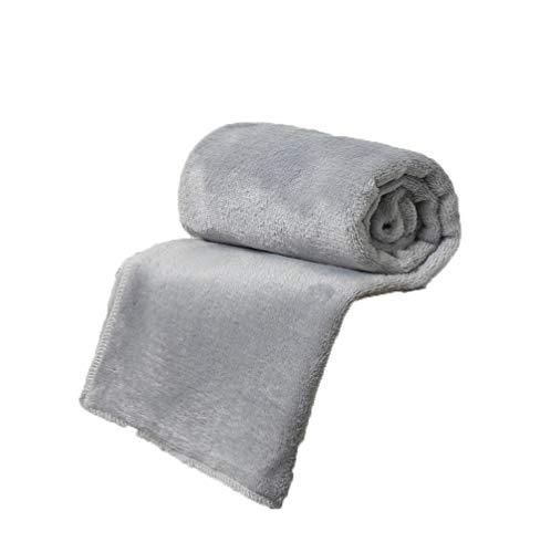 "20x28"" Flannel Pet Blanket Solid Warm Soft Baby Bed Mats Fleece Throw Rug Sofa Bedding Anti-Pilling Bedspread Sheet (Flannel - Gray, 20 x 28 Inch)"