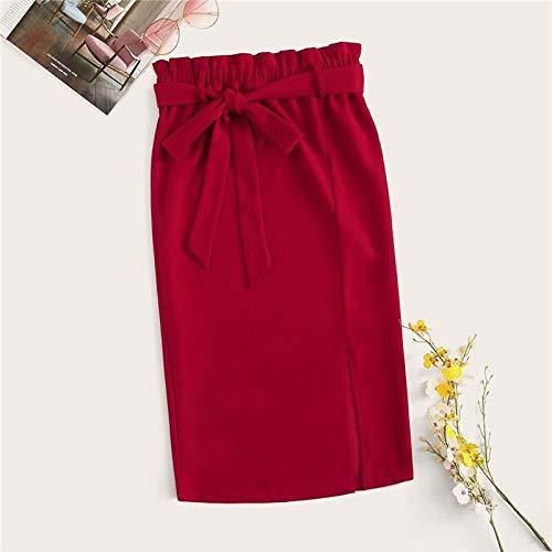 MIBKLPG Rokken Voor Damesmode Split Kokerrok Effen Kleur Elegante Hoge Taille Rok Midi Rok