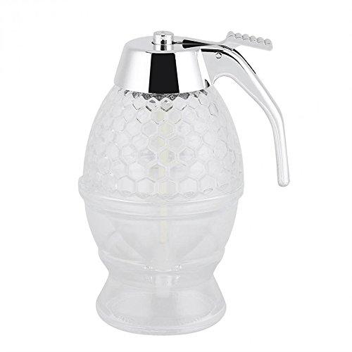 ZAMAC Distributeur de miel en acrylique avec support à gâchette incassable et sans BPA 200 ml