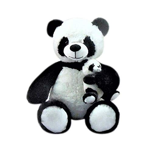 Goffa 21' Plush Jungle Animal -Panda Bear with Cub