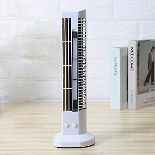 QREZ Turmventilator Leise, Air Cooler Ventilator Mit Wasserkühlung Standventilator 2 Geschwindigkeitsstufen Mit LED Licht Turmventilator Leise Testsieger,White1