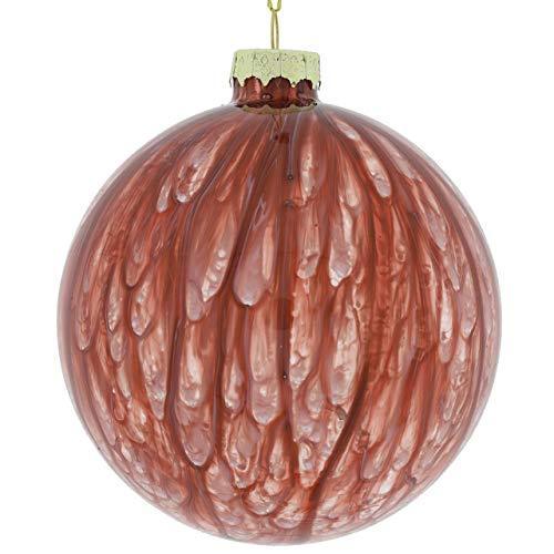 Countryfield Xavi - Palla per albero di Natale, 10 cm, colore: Rosso