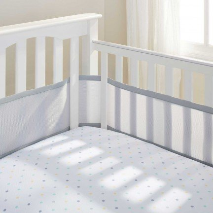 Read About BreathableBaby BreathableMesh Crib Liner - Gray Mist