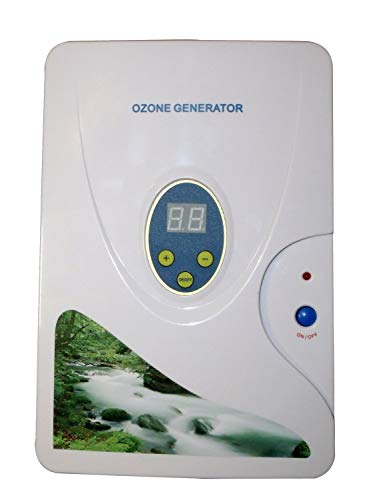 Generador de Ozono Purificadores de Aire 600mg/h, Multipropósito Ozonizador Desodorizante Esterilizador con Temporizador, Máquina de Desinfección de Ozono para Agua, Verduras, Frutas y Comida, Etc.