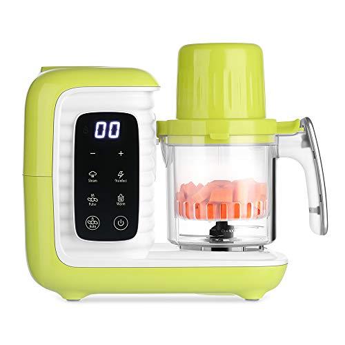 Procesador de Alimentos para Bebés zanmini, Robot de Cocina para Bebé Multifuncional 6 en 1, Vaporizar, Batir, Calentar biberone etc, con Autolimpiante, Bajo Consumo, Recetas incluido (se pasa en PDF)