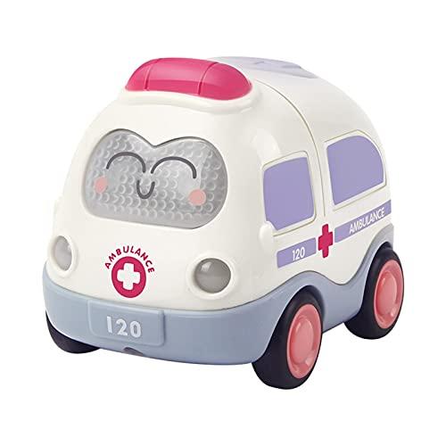 Yinyimei Coches de Juguetes Juguetes para bebés para bebé 1 año de Regalo de cumpleaños de Juguete de 1 año (Color : Ambulance Car)