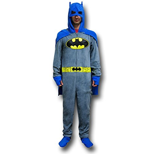 DC Comics Traje de Batman Unión gris pijamas W/capa y la capucha - -