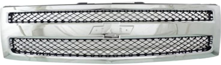 Make Auto Parts Manufacturing Front Chromed Shell Black Mesh Insert Grille With Emblem provision For Chevrolet Silverado 1500 2007 2008 2009 2010 2012 - GM1200572