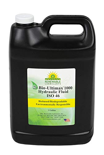 Renewable Lubricants Hydraulic Oil, Bio, Ultimax 1000, 1 gal, ISO 46, Yellow (81013)