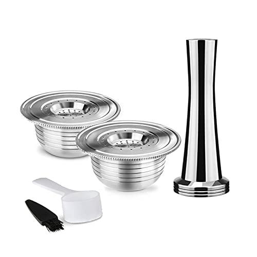 ZHANGZHI Filtro reutilizable de acero inoxidable para máquina de café Bialetti taza de café Brikka (Colore : Grigio Scuro)