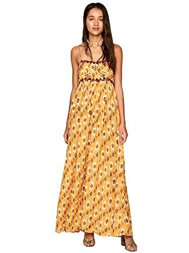 Pepe Jeans - Angie - PL952645 - Vestido Largo Boho DE Tirantes Estampado - para Mujer (XS)