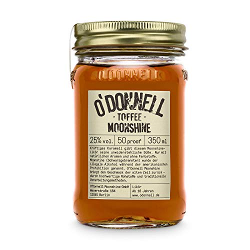 "O'Donnell Moonshine ""Toffee"" Likör (350 ml) I Made in Germany I Natürliche Zutaten I 25% Vol. Alkohol"
