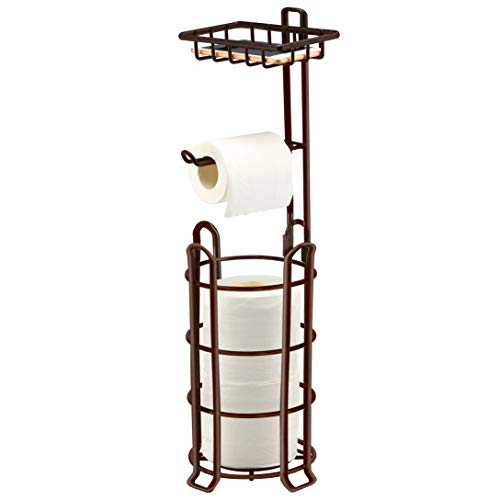 TomCare Toilet Paper Holder Toilet Paper Stand 4 Raised Feet Bathroom Accessories Portable Tissue...