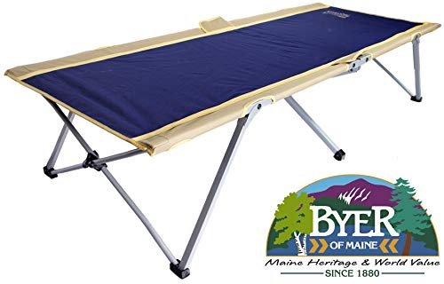 BYER OF MAINE Easy Cot, Extra Large, 78'L X 31'W X 18', Holds 330lbs, Easy to assemble, Ideal for...