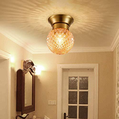 Candelabro Lámpara Moderna Lámpara de vidrio Lámpara Entrada Ligera Pasillo Aisle Simple Balcón Lámpara de techo Piña 1 * E27 (1 * 20cm)