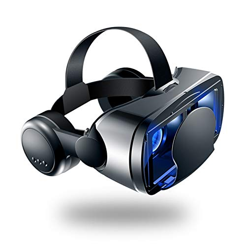 HPH VR Headset for Iphone And Android Phones VR Set Incl Remote Control 3D Virtual Reality Goggles with Controller Adjustable VR Glasses Gift for Kids And Adults