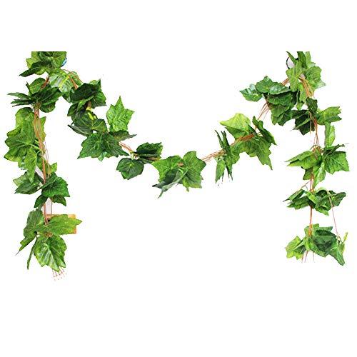 GRASARY 5 hojas artificiales de arce artificial para decoración de bodas, fiestas, hogar, bodas, etc.